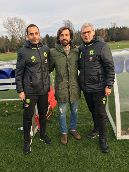 Andrea Pirlo Spotted At Chelsea's Training Ground