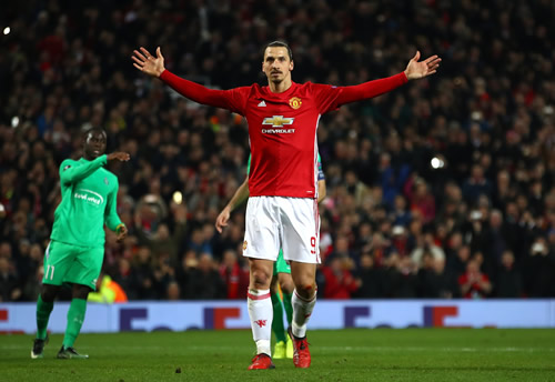 Manchester United 3 - 0 Saint-Etienne: Zlatan Ibrahimovic hits hat-trick as Manchester United beat St Etienne