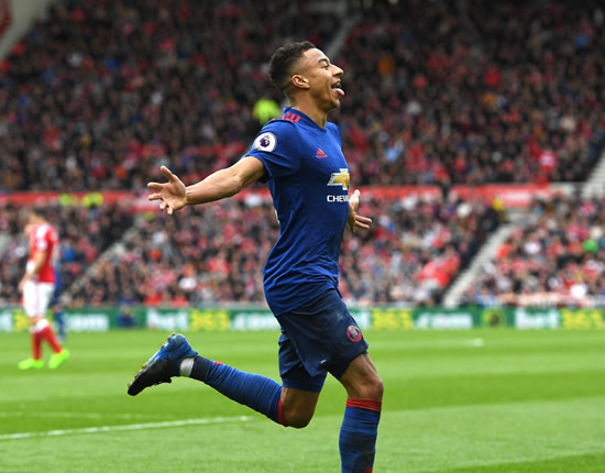 Middlesbrough 1 - 3 Manchester United: Jesse Lingard lifts Manchester United to victory and up to fifth
