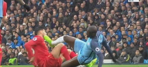 Should Yaya Toure have been sent off for this foul on Emre Can?