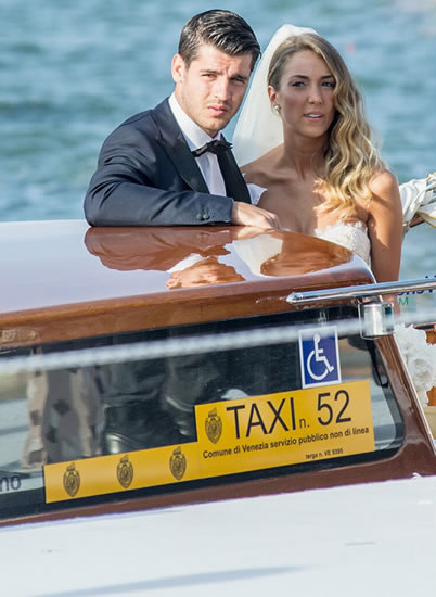 Alvaro Morata wedding: Man Utd target marries gorgeous WAG Alice Campello in Venice