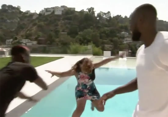 Watch man utd star paul pogba shock reporter by pushing - Can you over shock a swimming pool ...