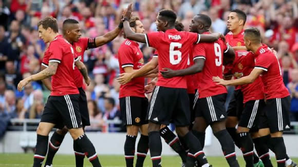 Manchester United 2 - 1 Sampdoria: Juan Mata nets winner for Manchester United against Sampdoria