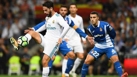 Real Madrid 2 - 0 Espanyol: Isco fires Real Madrid to first home victory in LaLiga
