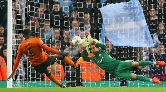 Manchester City 0 Wolves 0 (aet, 4-1 pens): Bravo saves send Guardiola's men through