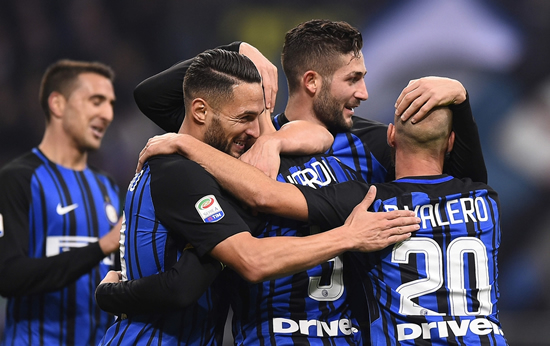 Inter Milan	3 - 2 Sampdoria: Mauro Icardi bags a brace as Inter Milan go top of Serie A