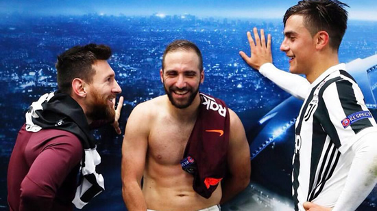 Messi's photo leads to criticism of Higuain's shape