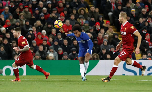 Liverpool 1 - 1 Chelsea FC: Willian, it was really something. Late goal denies Salah win over former team