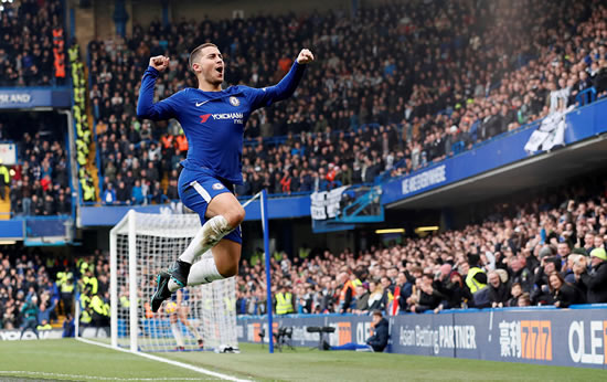 Chelsea FC 3 - 1 Newcastle: Eden Hazard at the double as Chelsea hit back to beat struggling Newcastle