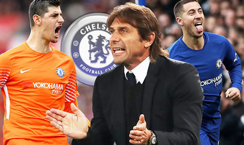 Antonio Conte tells board to wrap up Eden Hazard and Thibaut Courtois deals