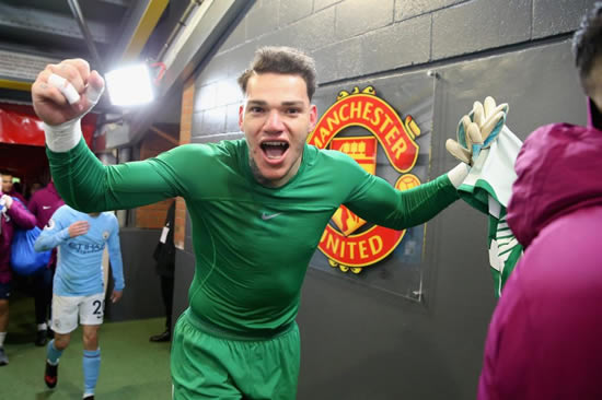 Jose Mourinho has water and milk thrown over him during furious dressing room bust-up with Manchester City goalkeeper Ederson