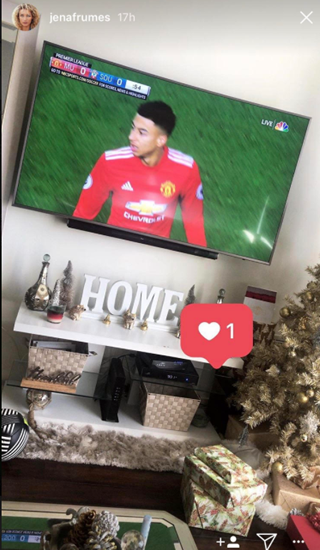 Jesse Lingard's girlfriend Jena Frumes likes picture of Manchester United love rat hours before his affair is exposed