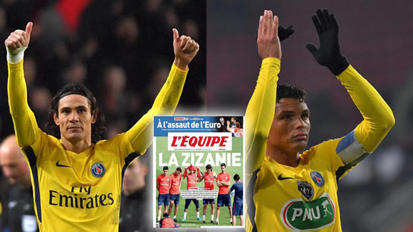 PSG dressing room fracas between Thiago Silva and the Argentine-Uruguayan clan