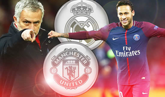 Manchester United 'ready to rival' Real Madrid in stunning €500m Neymar transfer battle
