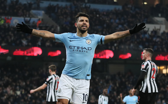 Manchester City 3 - 1 Newcastle: Sergio Aguero hits hat-trick as leaders Manchester City topple Newcastle