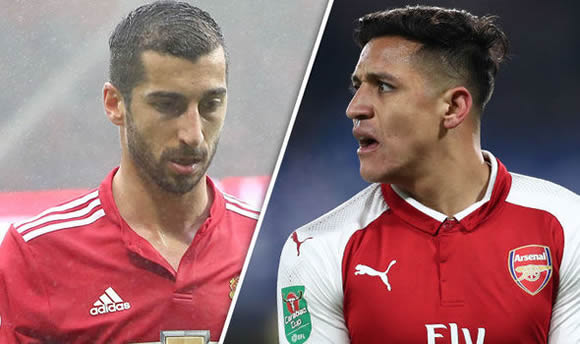 Man Utd and Arsenal agree straight swap deal for Alexis Sanchez and Henrikh Mkhitaryan