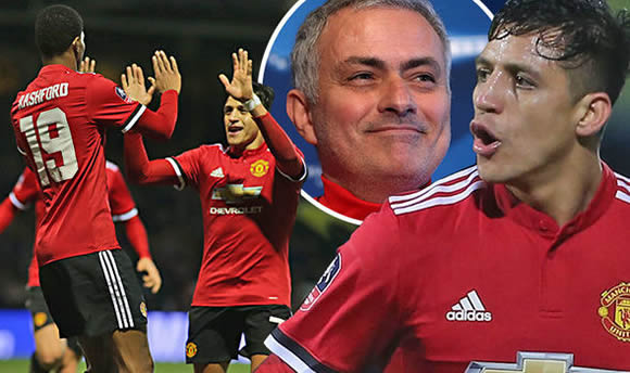 Jose Mourinho beams at Alexis Sanchez display as Man Utd star 'brings maturity' to side