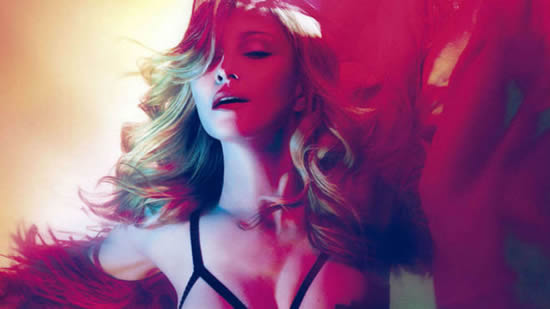 Madonna's latest topless shoot was because of football