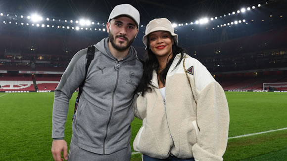 Rihanna watches Arsenal win and poses for photos with Gunners