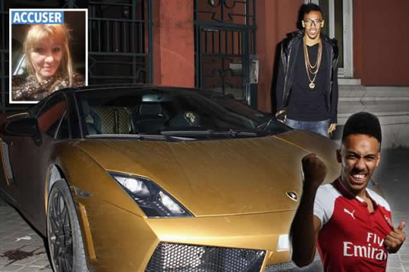 Arsenal ace Aubameyang probed by cops 'for trying to hit woman with his gold Lamborghini'
