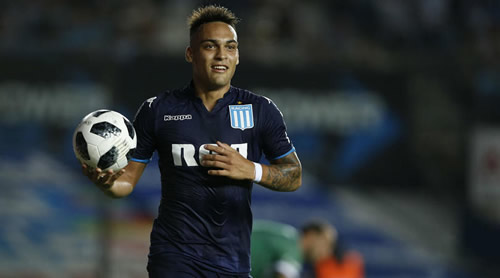 Racing Club expect Lautaro Martinez to join Inter Milan in €27m deal