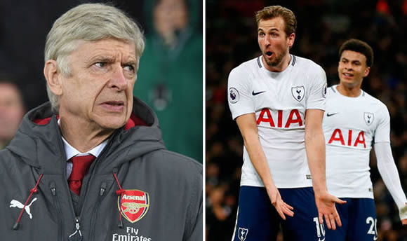 Arsenal boss Arsene Wenger swipes at Harry Kane and Dele Alli ahead of north London derby clash