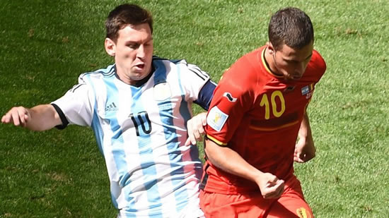 Chelsea's Eden Hazard says Lionel Messi is the 'greatest ever'