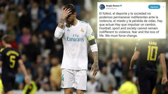 Sergio Ramos demands change after the violent clashes between fans in Bilbao