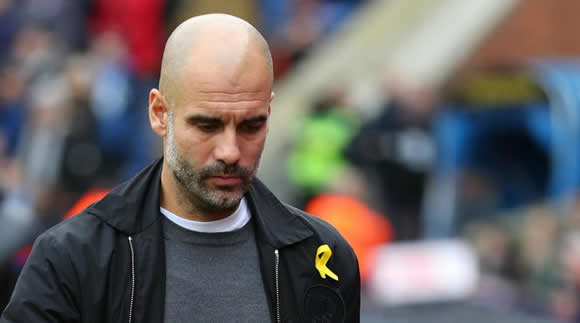 Tebas backs FA sanction over Guardiola's yellow ribbon