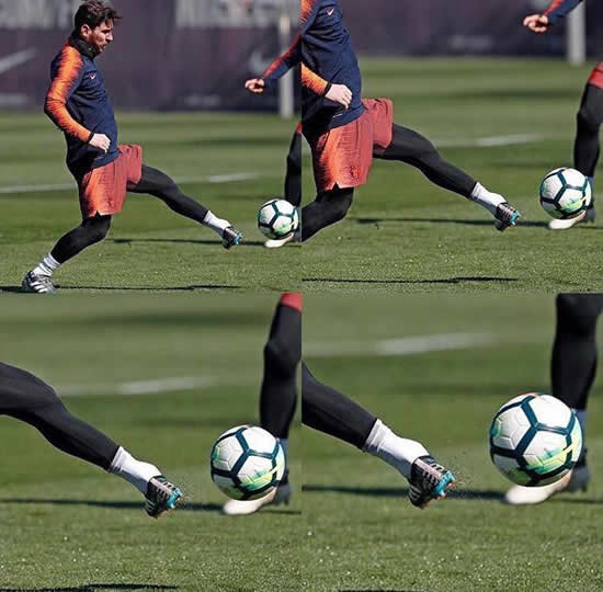 This Picture Of Lionel Messi's Left Foot In Training Proves He's Not Human