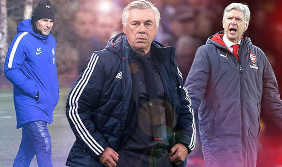 Arsenal and Chelsea in battle to land ex-Bayern Munich boss Carlo Ancelotti