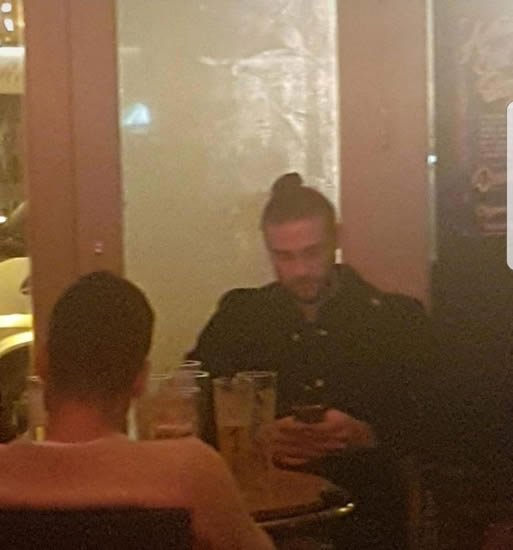 West Ham ace Andy Carroll was seen 'drinking pints til the early hours' before his team lost 4-1 to Swansea City