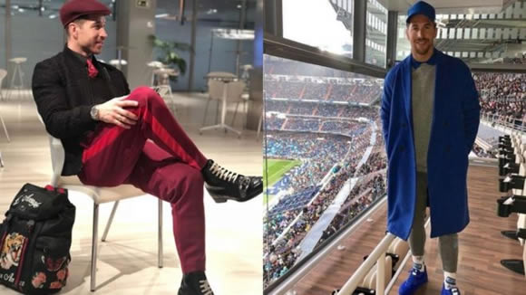 Sergio Ramos makes yet another fashion statement