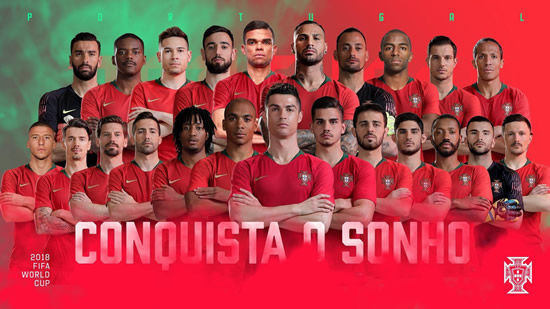 Cristiano Ronaldo in, Renato Sanches out of Portugal World Cup squad