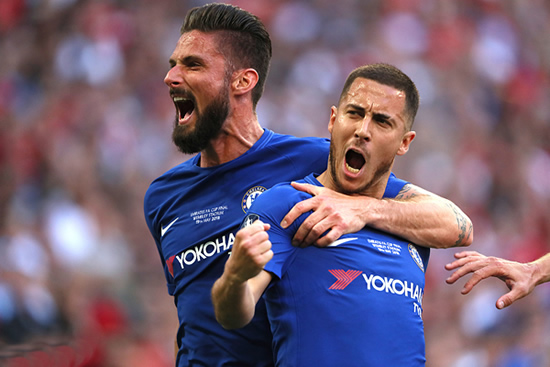Manchester United 0 - 1 Chelsea FC: Blue is the colour at Wembley as Chelsea win the FA Cup