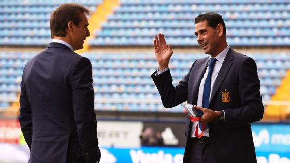Lopetegui out, Hierro in as Spain left reeling in shambolic World Cup preparation