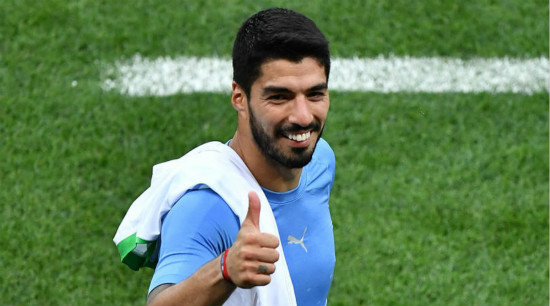 Suarez announces wife's pregnancy after World Cup heroics
