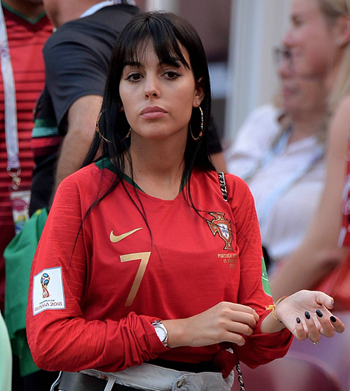 Cristiano Ronaldo's girlfriend appears with giant RING at World Cup clash
