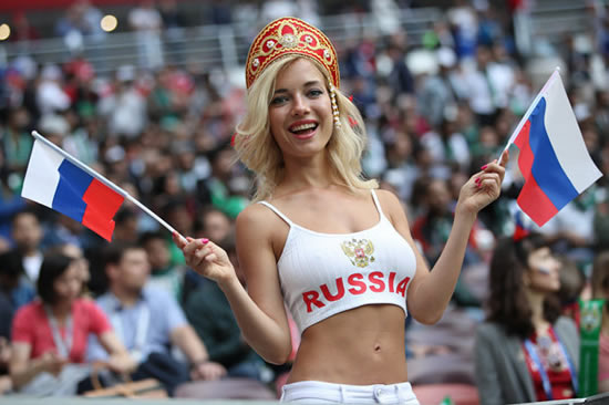 Russias hottest World Cup fan claims she is NOT a porn