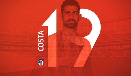 Atletico Madrid confirm squad numbers for Costa, Correa, Lemar and Lucas