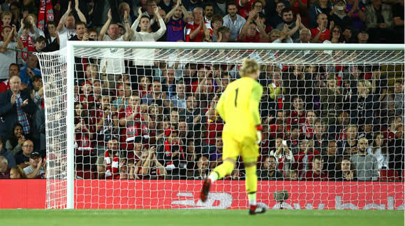 Liverpool keeper Karius grateful for Anfield reception