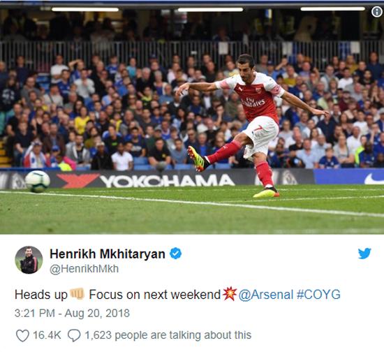 Emery We Want To Play With Mkhitaryan In Baku: Mkhitaryan Backs Emery's Philosophy At Arsenal