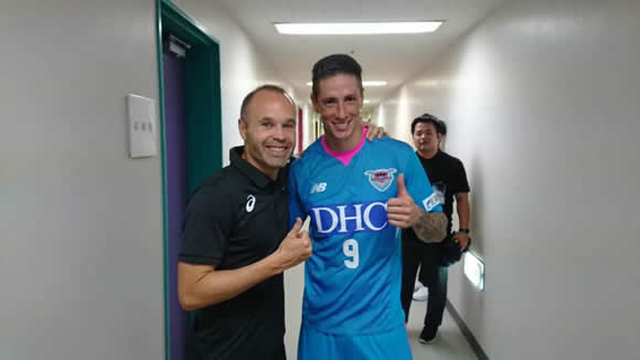 Torres scores first Sagan Tosu goal in Iniesta reunion