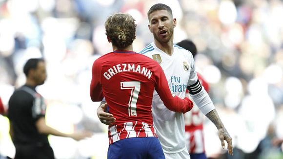 Real Madrid vs Atletico: Sparks will fly between Ramos and Griezmann