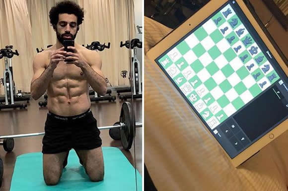Liverpool star Mo Salah shows brains and brawn by playing