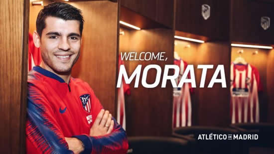 BLUE NO MOR Atletico Madrid confirm Chelsea flop Alvaro Morata has joined on 18-month loan