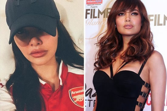 Model who dated Arsenal star sorry for Alex Iwobi 'gorilla' comments