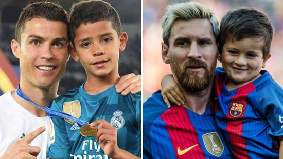 Thiago Messi and Cristiano Ronaldo Jr Have More In Common Than They Know