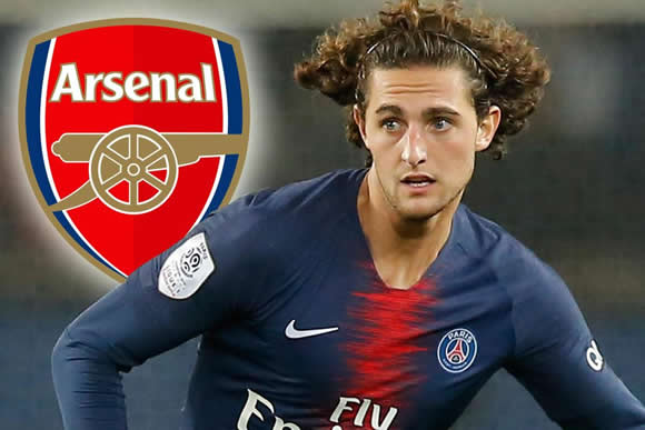 Arsenal eye move for PSG star Adrien Rabiot who is out of contract this summer