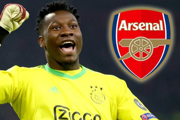 Arsenal and Tottenham in transfer battle for Ajax's ex-Barcelona keeper Onana